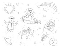 Coloring Book For Children Planets Vector Stock Vector