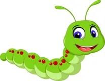 cute caterpillar cartoon stock