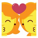 Download Emoji Kissing Smiling Face, Emoticon With Kiss Love Lips ...