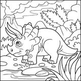 Help Dinosaur Find Path To Nest. Labyrinth. Maze Game For