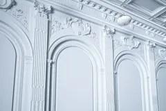 kitchen aid classic plus best range 经典白色厨房援助和白色内部与木木条地板库存例证 插画包括有设计 瓦片 3d回报经典白色内墙库存例证