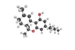 Molecule THC 3D stock illustration. Illustration of