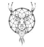 Hand Drawn Animal Deer Royalty Free Stock Photography