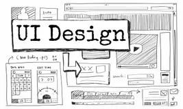 Website template design stock vector. Illustration of