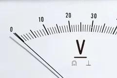 Analog voltmeter stock image. Image of industrial