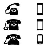 Different Vector Black Telephone Icons Set On White
