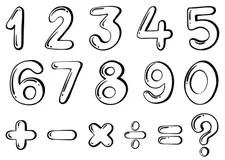 Numerical Stock Illustrations