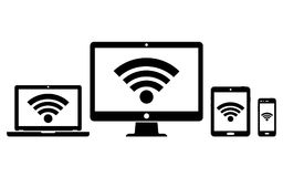 Computer Display, Laptop, Tablet And Smartphone Icons With