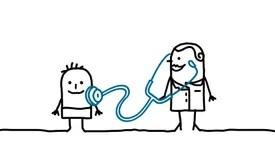 Pediatrician Stock Illustrations