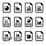 Database Icons On White Background. Stock Vector