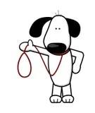 Dog Walking Cartoon Stock Illustrations