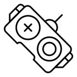 Control Remote Car Toy, Outline Style Stock Vector