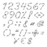 Alfabeto Delle Lettere E Di Numeri Del Metallo