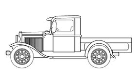 Early Motor Car Outline stock vector. Illustration of ford