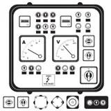 Retro control panel stock vector. Illustration of nobody