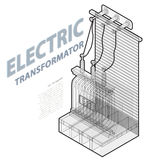 High Building Isometric stock vector. Illustration of