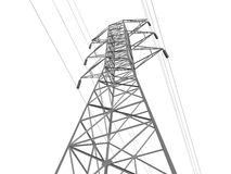 Power transmission lines stock photo. Image of electrical