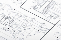 Architectural Plan Of 1 Floor Of House Stock Illustration