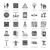 Vector Electrical Icons stock vector. Illustration of