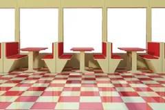 empty restaurant clipart cafeteria floor illustrations vectors checkered dining