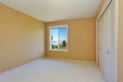 empty yellow walls window interior northwest usa