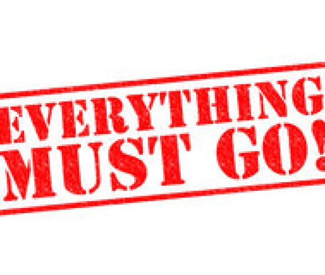 Everything Must Go Red Rubber Stamp Over A White Background Royalty Free Stock Photos