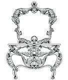 Vector Set With Baroque Ornaments In Victorian Style