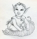 Fairy elf baby Royalty Free Stock Photography