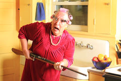 Mad Granny with Rifle stock image Image of cheap fear