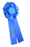 First Place Blue Ribbon Isolated Stock Images