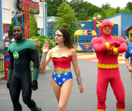 The flash, green lantern and super woman Royalty Free Stock Images