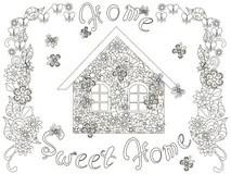 Sweet home frame stock vector. Illustration of