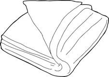Folded Blanket Stock Illustrations, Vectors, & Clipart