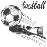 Football boots sketch stock vector. Illustration of