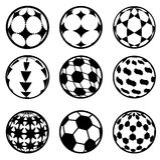 Soccer balls frame stock vector. Illustration of play