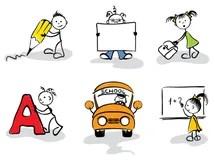 Cartoon Graduate Students Icons Set Stock Vector - Illustration of education. person: 21059137