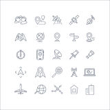 Cartography And Topography Vector Icons Royalty Free Stock