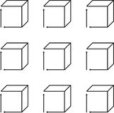 Vector Sketch Of A Cube In Perspective Stock Vector