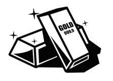 Gold Bars Stock Illustrations, Vectors, & Clipart