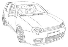 Volkswagen Golf 4 Stock Illustrations, Vecteurs, & Clipart