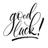 Good Luck Lettering stock vector. Illustration of goodbye