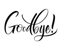 Goodbye Lettering stock vector. Illustration of goodbye
