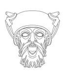 Greek Theatrical Mask Of Satyr Stock Illustration