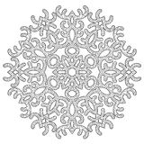 Hand Drawn Antistress Snowflake. Stock Vector