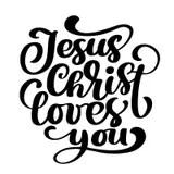 Download God Loves You Vector Illustration. Smiling Jesus And Bible ...