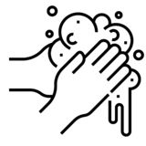 Hands Washing Properly Infographic. How To Wash Your Hands
