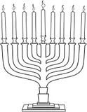 Hanukkah Dreidel Coloring Page Royalty Free Stock