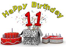 Happy Birthday Card 11 Stock Illustration Illustration