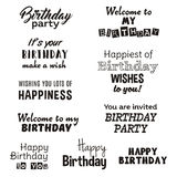 Birthday Party Invitation White Background Royalty Free