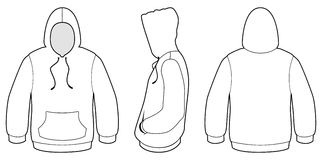 Hoodie vector template stock vector. Illustration of rear